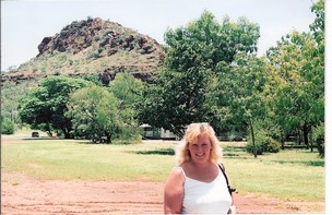C:\Users\shaun\Documents\memory stick\New folder\New Australia\web australia photos\Kellys Knob hanging over Sallys head in Kunnunurra..jpg